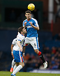 Dominic Ball towers above Greg Kiltie