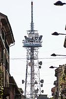 Milano, antenna della RAI, Radio Televisione Italiana --- Milan, antenna of RAI, Italian Radio Television