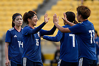 Japan&rsquo;s Mina Tanaka and Japan&rsquo;s Rin Sumida in action during the  International Football - Football Ferns v Japan  at Westpac Stadium, Wellington, New Zealand on Sunday 10 June 2018.<br /> Photo by Masanori Udagawa. <br /> www.photowellington.photoshelter.com