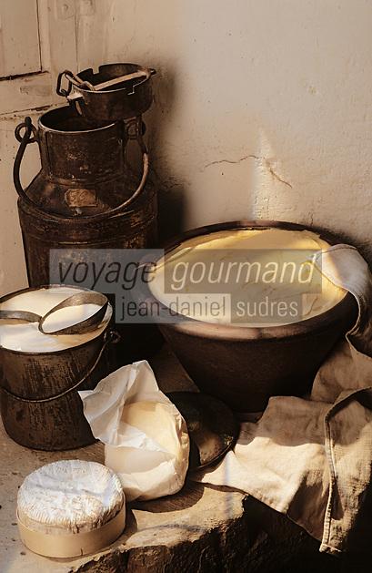 Europe/France/Normandie/14/Calvados: Le beurre, la crème fraîche et le camembert