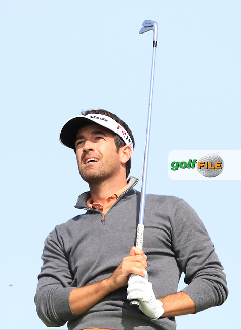 Eduardo De La Riva (ESP) on the 8th tee during Round 1 of the 2015 KLM Open at the Kennemer Golf &amp; Country Club in The Netherlands on 10/09/15.<br /> Picture: Thos Caffrey | Golffile
