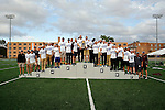 28 MAY 2016:  The Wisconsin LaCrosse team celebrates winning the overall team title during Division III Men's and Women's Outdoor Track & Field Championship held at Walston Hoover Stadium on the Wartburg College campus in Waverly, IA. Wisconsin LaCrosse won the national title with 41 points. Conrad Schmidt/NCAA Photos