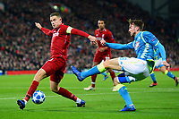 Napoli's Fabian competes with Liverpool's Jordan Henderson<br /> <br /> Photographer Richard Martin-Roberts/CameraSport<br /> <br /> UEFA Champions League Group C - Liverpool v Napoli - Tuesday 11th December 2018 - Anfield - Liverpool<br />  <br /> World Copyright © 2018 CameraSport. All rights reserved. 43 Linden Ave. Countesthorpe. Leicester. England. LE8 5PG - Tel: +44 (0) 116 277 4147 - admin@camerasport.com - www.camerasport.com