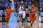 17 November 2015: North Carolina's Destinee Walker (24) is chased by Florida A&M's Khadejra Young (11). The University of North Carolina Tar Heels hosted the Florida A&M University Rattlers at Carmichael Arena in Chapel Hill, North Carolina in a 2015-16 NCAA Division I Women's Basketball game. UNC won the game 94-58.