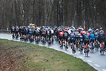 The peloton during a wet Stage 2 of the 78th edition of Paris-Nice 2020, running 166.5km form Chevreuse to Chalette-sur-Loing, France. 9th March 2020.<br /> Picture: ASO/Fabien Boukla | Cyclefile<br /> All photos usage must carry mandatory copyright credit (© Cyclefile | ASO/Fabien Boukla)