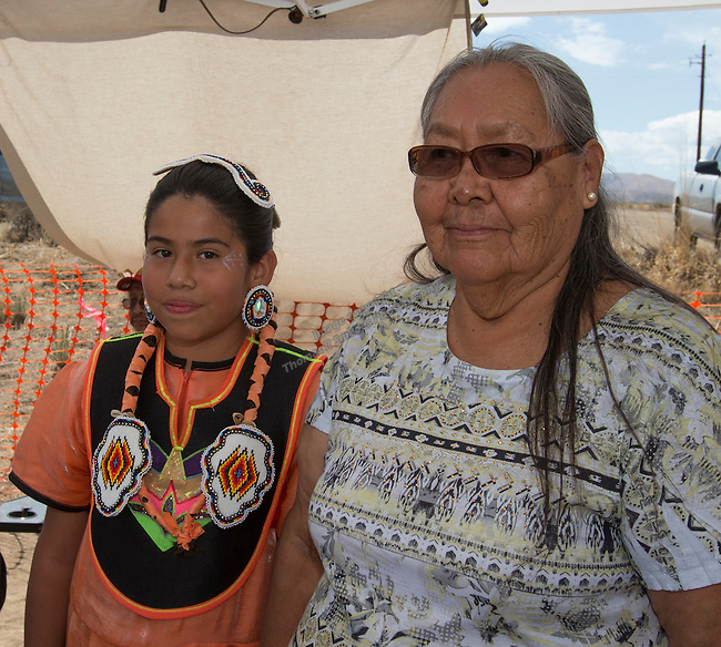 Angelicia Descheillie and Mary Johnson at the Numaga Indian Days Pow Wow in Hungry Valley on Saturday, Sept. 3, 2016.