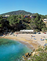 Spanien, Balearen, Ibiza (Eivissa): Bucht und Strand von Cala Carbo im Suedwesten | Spain, Balearic Islands, Ibiza (Eivissa): Cala Carbo - bay and beach