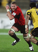 Kieran Read in action during the Super 15 rugby match between the Crusaders and Hurricanes at Westpac Stadium, Wellington, New Zealand on Saturday, 18 June 2011. Photo: Dave Lintott / lintottphoto.co.nz