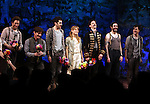 Rick Holmes, Adam Chandler-Berat, Celia Keenan-Bolger, Christian Borle, Kevin Del Aguila & Carson Elrod.during the Broadway Opening Night Performance Curtain Call for 'Peter And The Starcatcher' at the Brooks Atkinson Theatre on 4/15/2012 in New York City.