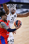 Turkish Airlines Euroleague.<br /> Final Four - Vitoria-Gasteiz 2019.<br /> Semifinals.<br /> CSKA Moscow vs Real Madrid: 95-90.<br /> Daniel Hackett vs Walter Tavares.