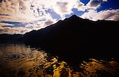 Cloud reflections Doubtful Sound, Fiordland National Park, South Island, New Zealand.