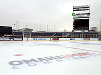 The outdoor ice rink at TD Ameritrade Park in Omaha, Neb., Thursday, Feb. 7, 2013. (Photo by Michelle Bishop)