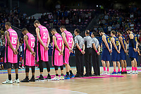 Estudiantes players and FC Barcelona Lassa players during Liga Endesa match between Estudiantes and FC Barcelona Lassa at Wizink Center in Madrid, Spain. October 22, 2017. (ALTERPHOTOS/Borja B.Hojas) /NortePhoto.com