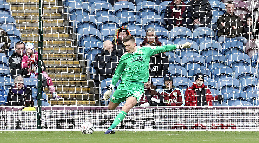 Burnley's Nick Pope<br /> <br /> Photographer Rich Linley/CameraSport<br /> <br /> Emirates FA Cup Third Round - Burnley v Barnsley - Saturday 5th January 2019 - Turf Moor - Burnley<br />  <br /> World Copyright © 2019 CameraSport. All rights reserved. 43 Linden Ave. Countesthorpe. Leicester. England. LE8 5PG - Tel: +44 (0) 116 277 4147 - admin@camerasport.com - www.camerasport.com