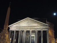 Moonlight over the Pantheon, Rome, Italy