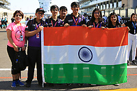 28th November 2019; Yas Marina Circuit, Abu Dhabi, United Arab Emirates; Formula 1 Abu Dhabi Grand Prix, arrivals day; Formula 1 in Schools team photo - Editorial Use