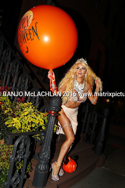 Gabi Grecko parades around the West Village Wearing a Mermaid outfit for Halloween, NYC 31 OCTOBER 2016 WEST VILLAGE NY USA<br />