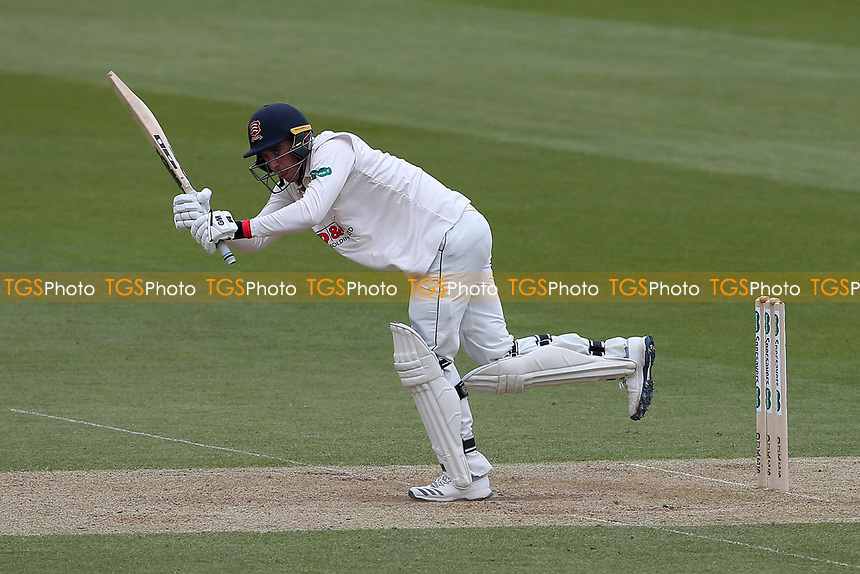 Daniel Lawrence hits 4 runs for Essex during Surrey CCC vs Essex CCC, Specsavers County Championship Division 1 Cricket at the Kia Oval on 12th April 2019