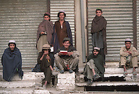 Men hanging out early morning in Rawalpindi, Pakistan in 1996.