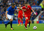 Everton's Phil Jagielka (L) in action with Sevilla's Sergio Escudero during the pre season friendly match at Goodison Park Stadium, Liverpool. Picture date 6th August 2017. Picture credit should read: Paul Thomas/Sportimage