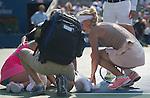 Caroline Wozniacki (DEN) wins 7-6, 4-3 as Shuai Peng (CHN) retires with injury