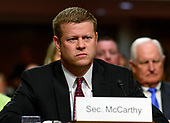Ryan D. McCarthy testifies on his nomination to be Secretary of the Army testifies on her nomination to be Secretary of the Air Force before the United States Senate Committee on Armed Services on Capitol Hill in Washington, DC on Thursday, September 12, 2019.<br /> Credit: Ron Sachs / CNP