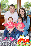 Jamie Lowe, Ella, Ava and Ciara O'Sullivan at the Stephen Lyne memorial coffee morning in the Brehon Hotel on Friday