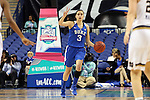 04 March 2016: Duke's Angela Salvadores (ESP). The Duke University Blue Devils played the University of University of Notre Dame Fighting Irish at the Greensboro Coliseum in Greensboro, North Carolina in an Atlantic Coast Conference Women's Basketball Tournament Quarterfinal and a 2015-16 NCAA Division I Women's Basketball game. Notre Dame won the game 83-54.