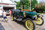 WOODBURY, CT. 16 July 2019-071619 - A 1912 Stanley Steamer sits at the Hotchkissville Firehouse stopping for water in Woodbury on Tuesday. The Steamers need to stop every 35-50 miles to fill up with water as they operate by steam. A large group of owners of Stanley Steamers from around the country have gathered driving around the area touring the Litchfield Hills. Bill Shettle Republican-American