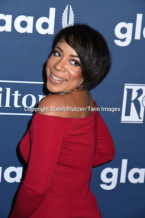 Selenis Levya attends the 27th Annual GLAAD Media Awards on May 14, 2016 at the Waldorf Astoria Hotel in New York City, New York, USA.<br /> <br /> photo by Robin Platzer/Twin Images<br />  <br /> phone number 212-935-0770