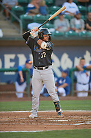 Tristen Carranza (37) of the Missoula Osprey at bat against the Ogden Raptors at Lindquist Field on August 12, 2019 in Ogden, Utah. The Raptors defeated the Osprey 4-3. (Stephen Smith/Four Seam Images)