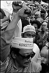 98/99-- Jakarta, Indonesia -- Political life is tough on the world's most inhabited island in the world's biggest muslim nation.