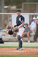 Garret Guillemette (12) during the WWBA World Championship at the Roger Dean Complex on October 10, 2019 in Jupiter, Florida.  Garret Guillemette attends Servite High School in Yorba Linda, CA and is committed to Southern California.  (Mike Janes/Four Seam Images)