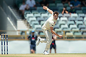 November 5th 2017, WACA Ground, Perth Australia; International cricket tour, Western Australia versus England, day 2; Chris Woakes bowls during spell on day 2 against Western Australia