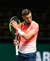 Rotterdam, The Netherlands, 14 Februari 2019, ABNAMRO World Tennis Tournament, Ahoy, quarter finals, singles, Damir Dzumhur (BIH), <br /> Photo: www.tennisimages.com/Henk Koster