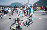 Fabio Aru (ITA/Astana) to the start<br /> <br /> Giro d'Italia 2015<br /> stage 18: Melide (SUI) - Verbania (170km)