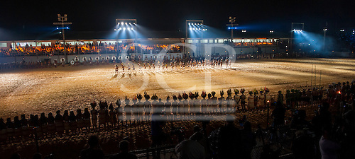 Participants from various ethnic groups participate in the opening ceremony at the International Indigenous Games in Brazil. 23rd October 2015