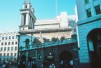 Nicholas Hawksmoor: St. Mary Woolnoth, London. Southwest profile. Photo '05.