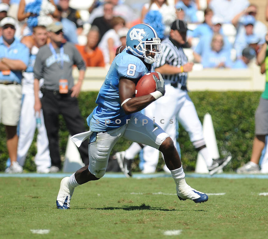 GREG LITTLE of the University of North Carolina Tarheels in action during the Tarheels  game against the Virginia Cavaliers on October 3, 2009 in Chapel Hill, NC. Virginia won 16 - 3..