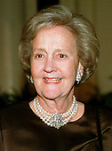 Mrs. Katherine H. Graham, Chairman of the Executive Committee, The Washington Post, arrives at The White House in Washington, DC for the State Dinner honoring Chinese President Jiang Zemin October 29, 1997.<br /> Credit: Ron Sachs / CNP