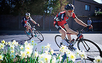 race leaders Ben Hermans (BEL/BMC) &amp; David Tanner (AUS/IAM) try to stay ahead of the peloton with about 25km to go<br /> <br /> 55th Brabantse Pijl 2015