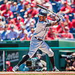 30 July 2017: Colorado Rockies outfielder Raimel Tapia in action against the Washington Nationals at Nationals Park in Washington, DC. The Rockies defeated the Nationals 10-6 in the second game of their 3-game weekend series. Mandatory Credit: Ed Wolfstein Photo *** RAW (NEF) Image File Available ***