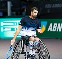 Rotterdam, The Netherlands, 9 Februari 2020, ABNAMRO World Tennis Tournament, Ahoy, Wheelchair: Joachim Gerard (BEL).<br /> Photo: www.tennisimages.com