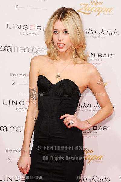 Peaches Geldof arriving for the Lingerie London show at Old Bilinsgate Market, London. 24/10/2012 Picture by: Steve Vas / Featureflash