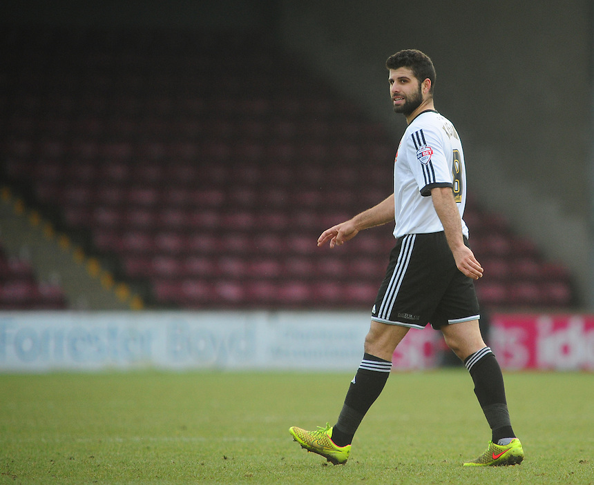 Swindon Town's Yaser Kasim<br /> <br /> Photographer Chris Vaughan/CameraSport<br /> <br /> Football - The Football League Sky Bet League One - Scunthorpe United v Swindon Town - Saturday 14th February 2015 - Glanford Park - Scunthorpe<br /> <br /> &copy; CameraSport - 43 Linden Ave. Countesthorpe. Leicester. England. LE8 5PG - Tel: +44 (0) 116 277 4147 - admin@camerasport.com - www.camerasport.com