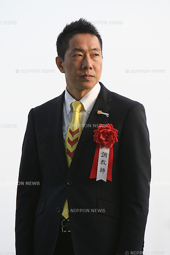 Akira Murayama,<br /> JANUARY 25, 2015 - Horse Racing :<br /> Trainer Akira Murayama after Copano Rickey won the Tokai TV Hai Tokai Stakes at Chukyo Racecourse in Aichi, Japan. (Photo by Eiichi Yamane/AFLO)