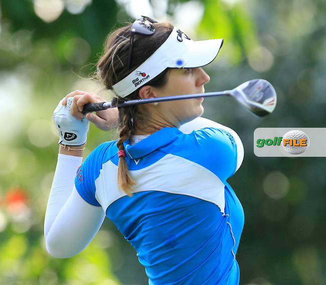 Sandra Gal (GER) on the 9th tee during Round 3 of the HSBC Women's Champions at the Sentosa Golf Club, The Serapong Course in Singapore on Saturday 7th March 2015.<br /> Picture:  Thos Caffrey / www.golffile.ie