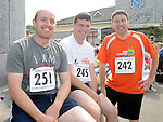 Mark McCartney, Ray and Paul Breagy who ran the Ardee 10K run. Photo: www.colinbellphotos.com