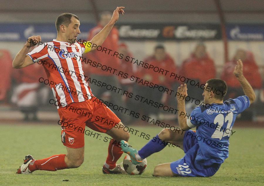 Fudbal Kup Srbije season 2013-2014<br /> Crvena Zvezda v Vojvodina<br /> Nenad Milijas (L) and Miroslav Vulicevic<br /> Beograd, 04.12.2013.<br /> foto: Srdjan Stevanovic/Starsportphoto &copy;