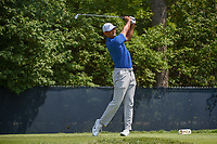 Tiger Woods (USA) watches his tee shot on 9 during 3rd round of the 100th PGA Championship at Bellerive Country Club, St. Louis, Missouri. 8/11/2018.<br /> Picture: Golffile | Ken Murray<br /> <br /> All photo usage must carry mandatory copyright credit (&copy; Golffile | Ken Murray)